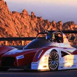 Mitsubishi domina los entrenamientos de Pikes Peak en la categoría de eléctricos
