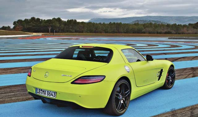 2014-mercedes-benz-SLS-AMG-electric-drive-passenger-side-rear-view