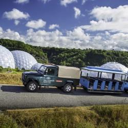El Land Rover Defender eléctrico demuestra su potencial en el Parque Eden Project