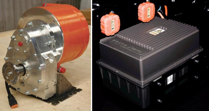 sistema de propulsión camión electrico