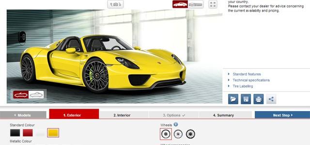 Ya puedes configurar tu Porsche 918 Spyder