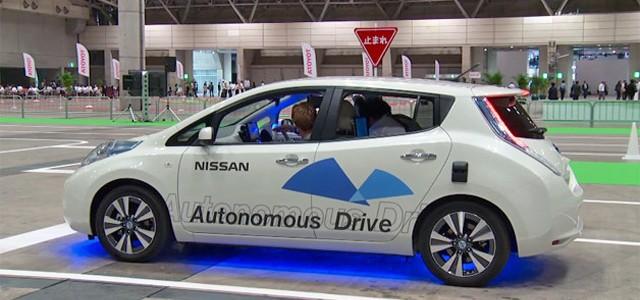 El Nissan LEAF autónomo se deja ver en Tokio