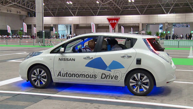 nissan leaf autonomo