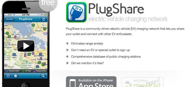 PlugShare, una buena solución para la recarga pública