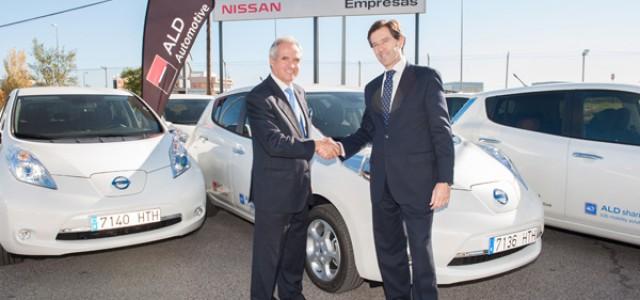 El Nissan LEAF se incorpora a la oferta de Car Sharing para empresas de ALD Automotive