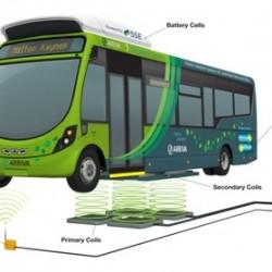 Comienza la mayor prueba de autobuses eléctricos con carga inalámbrica de Inglaterra