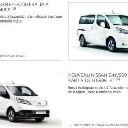 Ayudas en Francia. El Nissan LEAF, desde 11.590 euros, la e-NV200, desde 6.890 euros