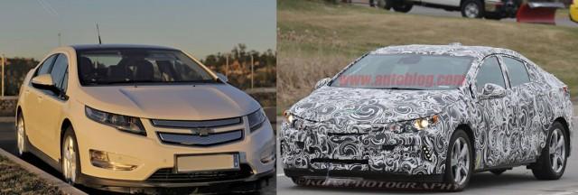 Frente a frente. El viejo y el nuevo Chevrolet Volt