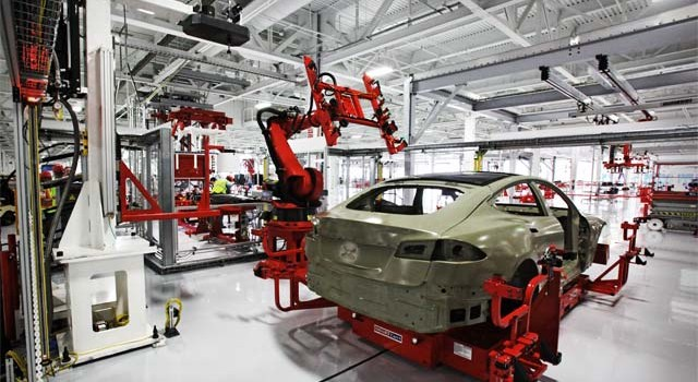 """La segunda planta """"secreta"""" de la fábrica de Tesla"""