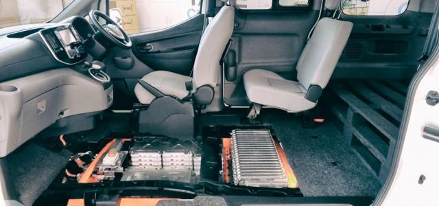 El sistema de refrigeración de la batería en la Nissan e-NV200
