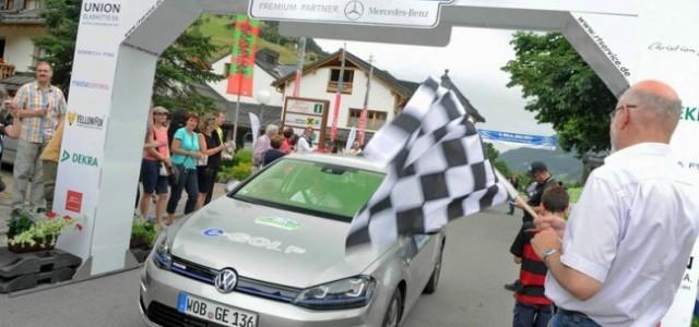 El Volkswagen e-Golf se hace con el Rally Silvretta 2014