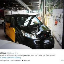 La primera Nissan e-NV200 taxi, a punto de empezar sus trabajos en Barcelona