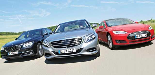Bilder-BMW-750-Li-Mercedes-S-500-lang-Tesla-Model-S-Performance-2013-Vergleich-001