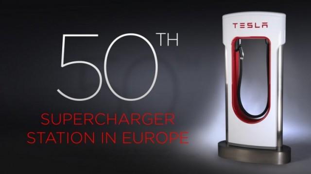 Supercargador de Tesla en Narbona, Francia