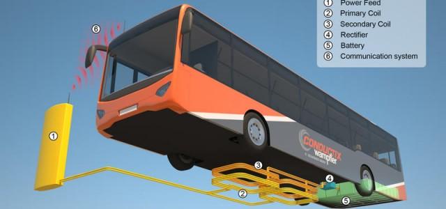 Los autobuses híbridos de Londres, tendrán recarga inalámbrica