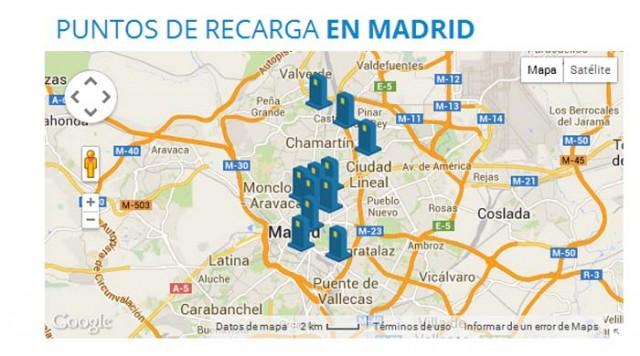 GIC puntos recarga Madrid