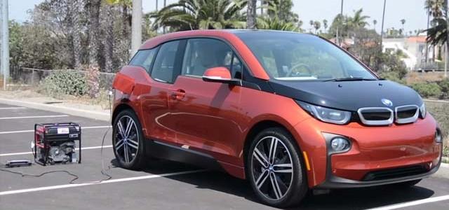 ¿Puedo recargar un coche eléctrico con un generador portátil? El BMW i3 si
