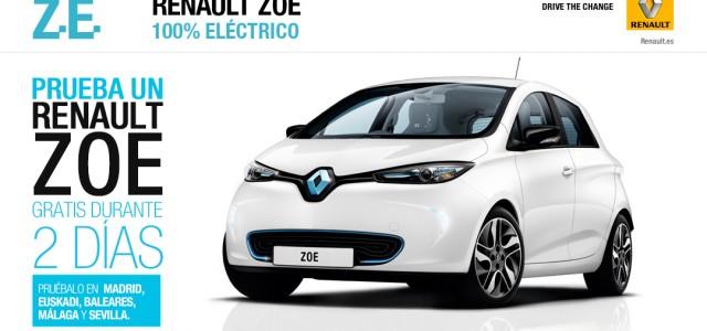 Llévate dos días el Renault ZOE a casa. Reserva tu ZOE
