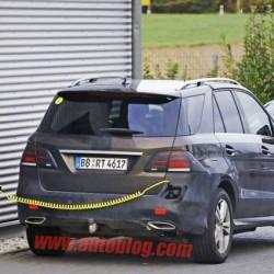 El Mercedes GLE enchufable pillado durante unas pruebas