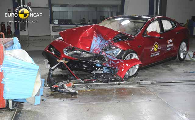 tesla model s crash test euroncap