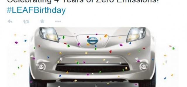 El Nissan LEAF cumple cuatro años