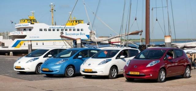 65 Nissan LEAF para el car sharing de la isla de Terschelling, Holanda