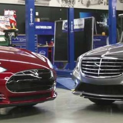 Tesla Model S vs Mercedes-Benz S550