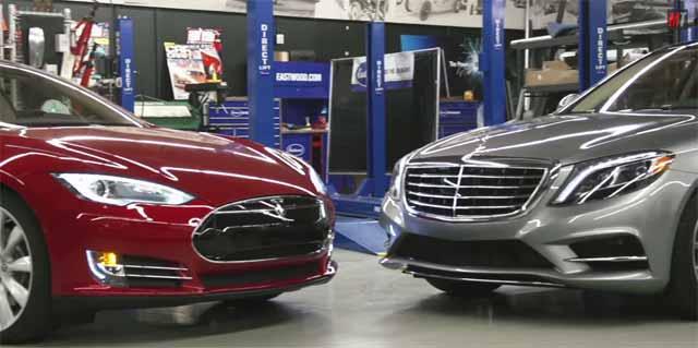 tesla-model-s-vs-mercedes-clase-s550