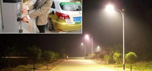 Pekín empieza a convertir las farolas en puntos de recarga para coches eléctricos