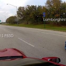 Tesla Model S P85D contra Lamborghini Aventador