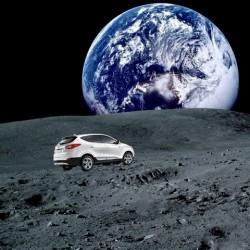 El Hyundai ix35 Fuel Cell recorre la distancia entre la Tierra y la Luna
