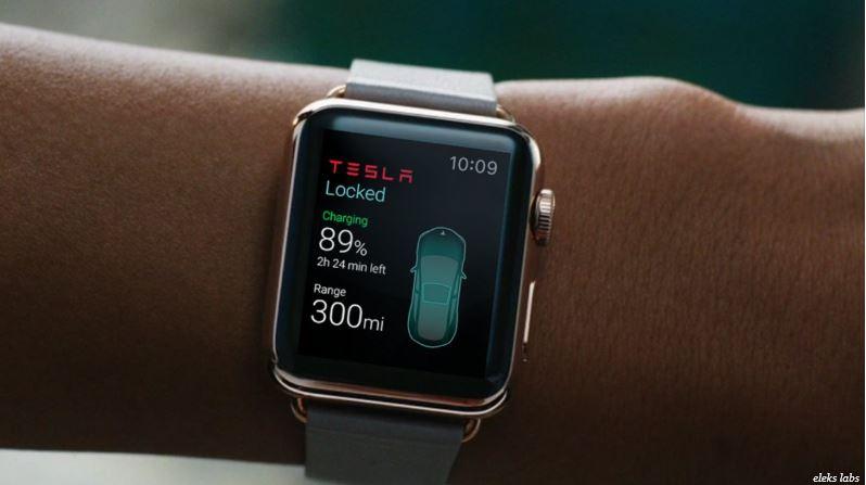 Aplicación de Tesla para el Apple Watch