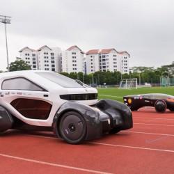 Singapur presenta un coche eléctrico y  solar fabricado con una impresora 3D