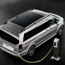 Mercedes V-Class concept. Una furgoneta de lujo con sistema híbrido enchufable