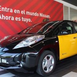El Nissan LEAF se incorpora a la flota de taxis eléctricos de Barcelona