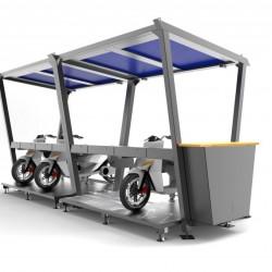 SunPod Cyclo. Cuando la moto compartida se une a la recarga solar