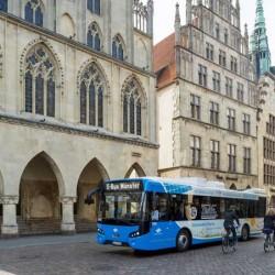 Münster estrena una línea de autobuses eléctricos con puntos de recarga de 500 kW