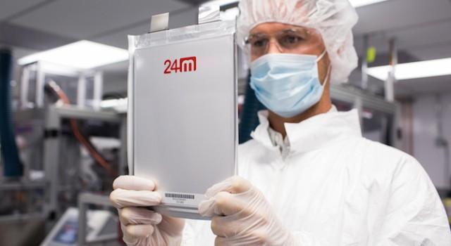 24M recibe un nuevo empujón para el desarrollo de sus baterías de litio económicas