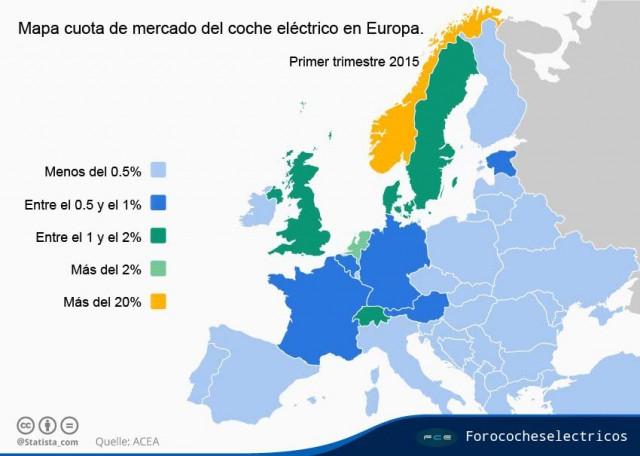 Mapa-ventas-coches-electricos-Europa-2015