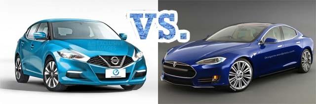 Nissan_Leaf_2_vs_Tesla_Model_III