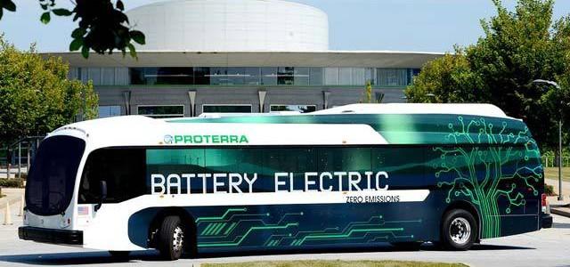 El autobús eléctrico de Proterra recorre 412 kilómetros con una sola carga