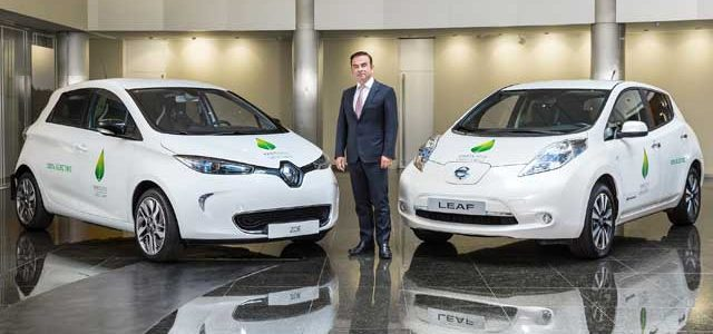 Carlos Ghosn afirma que la Alianza Renault-Nissan-Mitsubishi es probablemente el único fabricante que logra ganancias con sus coches eléctricos