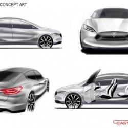 Otro render del Tesla Model III, esta vez un SUV