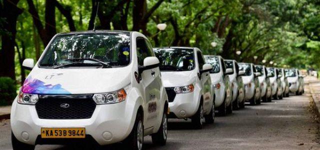 El Mahindra Reva E2O protagonista de una original flota de taxis eléctricos en Bangalore
