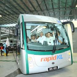 Malasia pone en marcha un carril elevado para autobuses eléctricos