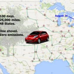 Misión Imposible. 40.000 kilómetros en 100 días con un Nissan LEAF
