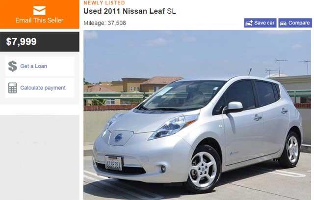 Nissan LEAF de segunda mano