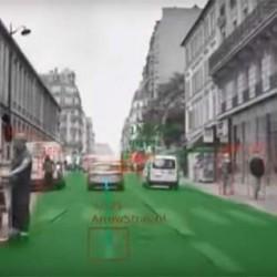 ¿Qué ve un coche de Tesla dotado del sistema de conducción autónoma?