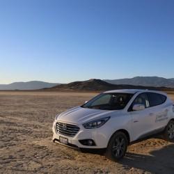 Hyundai celebra el récord de velocidad logrado por el ix35 a hidrógeno. 152 km/h!!!