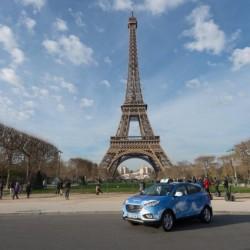 5 Hyundai ix35 de pila de combustible de hidrógeno operarán como taxis en París